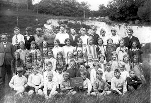Øster Hornum - Skoleelever 1930