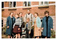 Tommerup - Johanne med tvillingerne, Flemming og Annelise og Birgit, de tidlige tressere