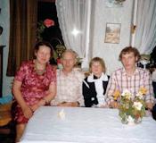 Tommerup - Johanne, Otto, Palle og Flemming, midten af halvfjerdserne