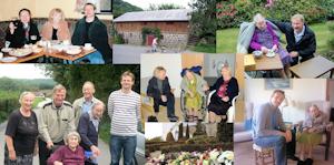 Tommerup - Collage med Johanne og familie
