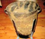 Vollund - Lysestøbergryde - er på museet Højvang