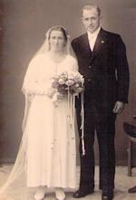 Vollund - Poulin og Jensine ved deres bryllup 1937
