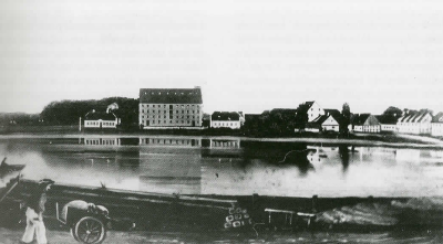 Bandholm - Havn 1800-tallet Qvades Pakhus