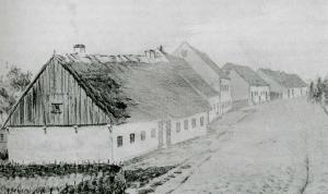 Bandholm - Hovedgade omkring 1800
