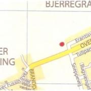 Øster Bjerregrav - Landkort