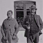 Nordrupvester - Christiane og Lars Peder Jensen fotograferet før 1940
